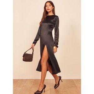 NWT Reformation Luci Midi Dress Silk High Slit